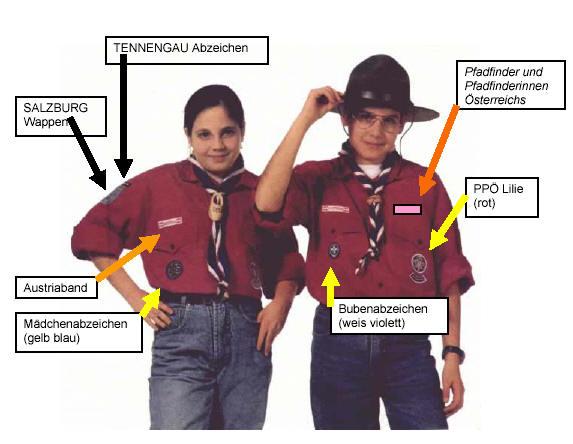Abzeichen auf der Uniform