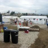 Zeltlager des Roten Kreuzes in der Nähe von Leogane