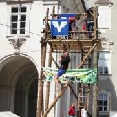 Der Turm der Gruppe Tennengau bei der 100 Jahr Feier